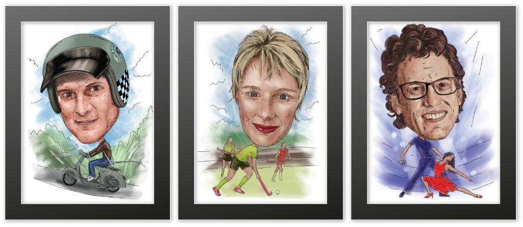 caricatures framed2